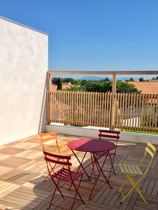 Photo for SMALL T2 NINE WITH BEAUTIFUL TERRACE OF 35 M2 PIGNADA AND BEACHES