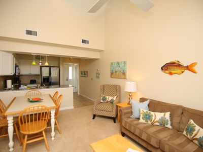 Photo for Top Floor Golf Views - Steps from Beach. PET FRIENDLY Elevator &Parking Garage