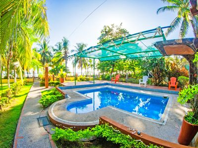 Photo for Beachfront Villa I Private Pool Jacuzzi I Sunset views