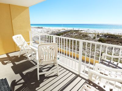 Photo for Direct Beach View from 3rd Floor, Upgraded Furnishings, Beach Service - gd206