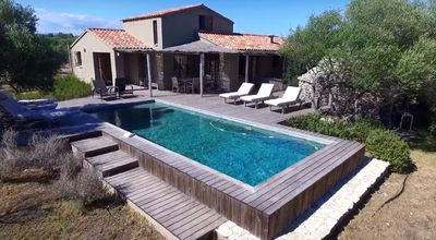 Photo for 5 * Listed Villa with Heated Pool, Hotel Service, 5 min from the Beach