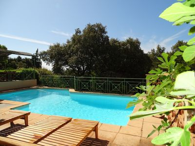 Photo for Nice villa with pool, sea view, 150m from the beach for 12 people