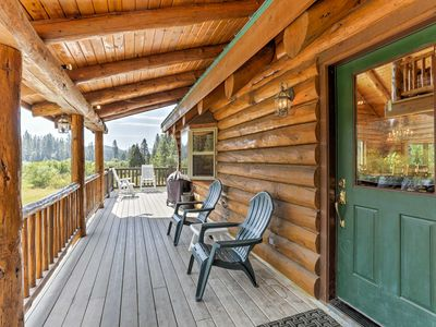 Photo for Log Home on 40 Private Ac. Near Mt Shasta Ski Park
