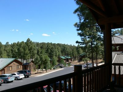 Front porch view. Great morning sun to enjoy a cup of coffee