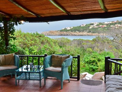 Photo for Only a few steps away from the beach, sea view, private garden, parking, wifi