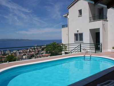 Photo for Holiday apartment with pool and panoramic view