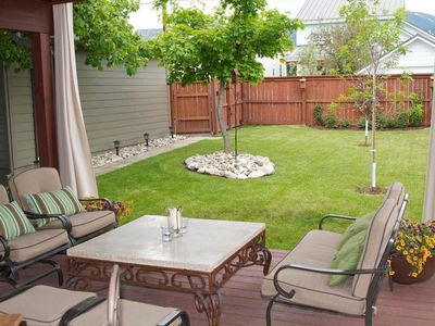 Back patio - great for relaxing after a busy day!