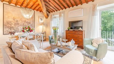Photo for 2 BEDROOMS Panoramic Penthouse Apartment with Balcony inside the walls of Lucca