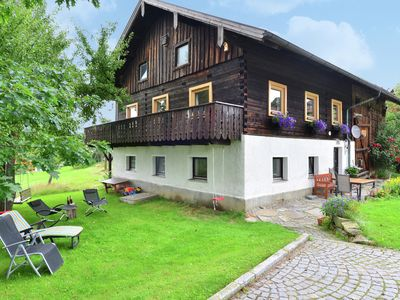 Photo for Detached holiday house in Bavarian Forest - garden, balcony and open fireplace