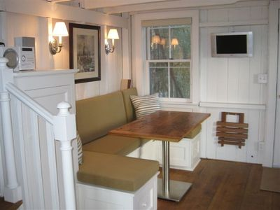 The living/dining area built-in converts to a twin sleeper