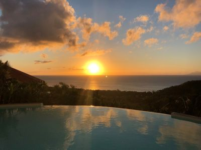 Photo for Villa Cocoon enjoying one of the most beautiful views of Guadeloupe with swimming pool