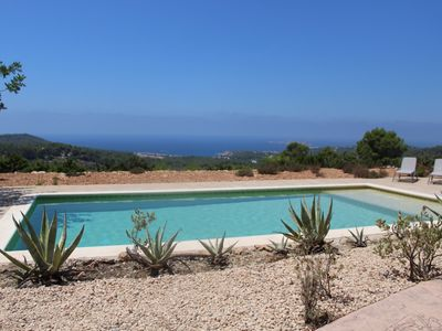 Photo for Villa with large spectacular pool overlooking the sea and sunset