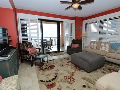 Photo for Seachase 405W- Beach Front Views from Terrace and Coastal Interior!