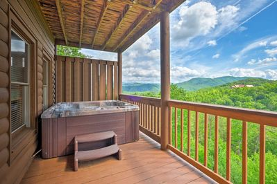 Soak your sore hiking legs in the hot tub.