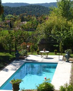 Photo for Luxury Provençal Farmhouse set in lovely gardens and Orchards with heated pool