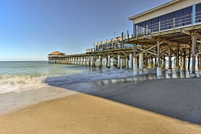 The bungalow is located just 2 blocks from the beach and Cocoa Beach Pier.