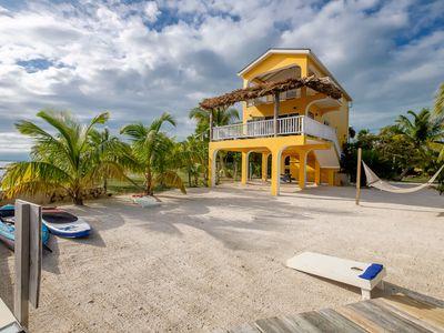 Photo for Completely Renovated private oceanfront home on the beach with private pier