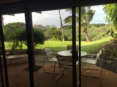 View from the Lanai/Living Room