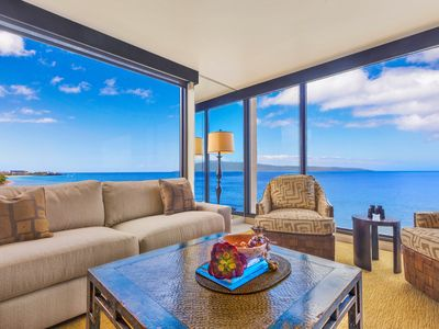 Photo for MAHANA 9TH FLOOR  KAANAPALI OCEANFRNT, BEST CORNER VIEW LUXURY 2 BEDROOM