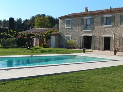 Photo for Cedar of St Remy Part of Mas 100m² charm comfort heated pool garden