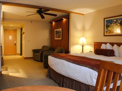 Photo for Hotel Suite with Kitchenette, Great on Mountain Location, Indoor/Outdoor Pool