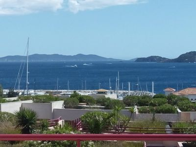 Photo for Rental apartment Le Lavandou near downtown, T2, sleeps 4 in residence with pool.