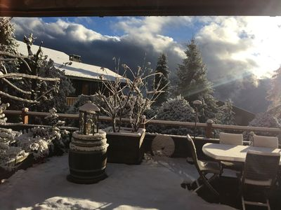 Photo for Stunning 120m2 Apartment with a 100m2 terrace in the heart of Verbier