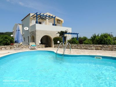 Photo for Villa Adelphi near Kalives. 2 bedrooms, private pool, views and all amenities.
