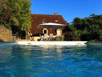 Photo for Heart of black Perigord house 8/10 people, breathtaking view, private pool