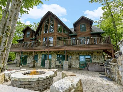 Photo for Lake access home with hot tub, sauna, gas grill, fire pit and pool table!