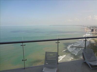 Amazing view from large balcony Table with 4 chairs out on th balcony, Unreal !