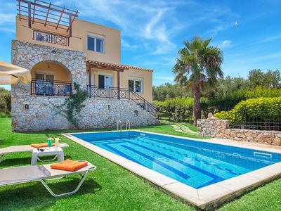 Photo for 3 bedroom Villa, sleeps 6 in Kalyves with Pool, Air Con and WiFi