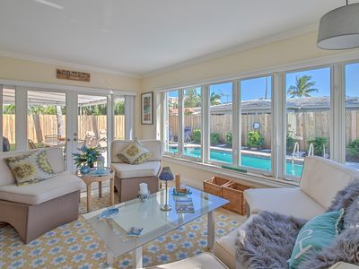 Photo for South Florida House with private in ground pool. Ten minute walk to the beach!