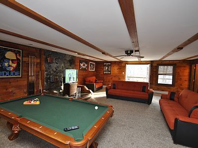 The Game Room with Pool, PS3, 50' Flatscreen and Deck Access