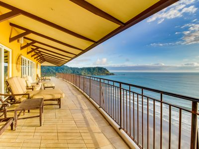 Photo for Top-floor, luxury oceanfront condo w/stunning views & shared pool near the beach