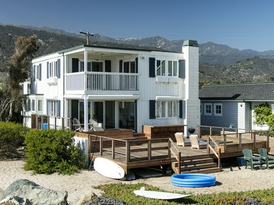 Photo for Paradise on Padaro Lane, Beachfront Home in Carpinteria, Sleeps 10