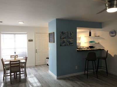Photo for Luxury renovated 1 BD/1 BA. 1/2 block from beach..