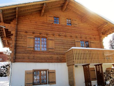 Photo for Chalet very quiet, comfortable, beautiful views, dom. Evasion Mont Blanc