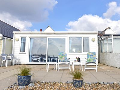 Photo for Beach Cottage (3 bed) in Pevensey Bay, set on glorious private pebble beach