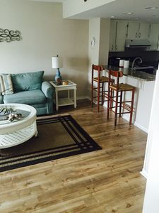 Ocean view updated condo - steps from the beach! Pool on site, and free Wi-Fi!