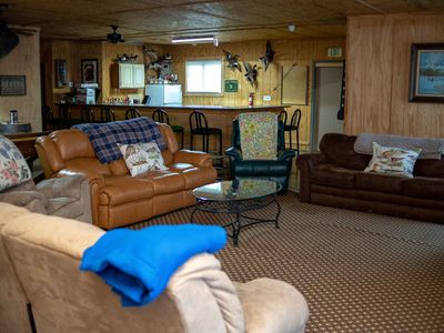 Photo for Lodge that sleeps 16! Ideal for Fishermen, Family reunions, Hunters and Tourist!