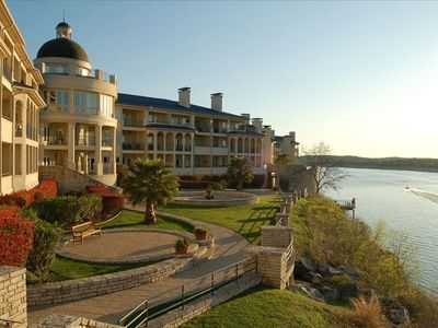 Luxury condos on Lake Travis's only Island Resort (picture w/lake full at 681 ft