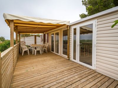 Photo for Cosy Mobile Home in Canet-en-Roussillon with Pool