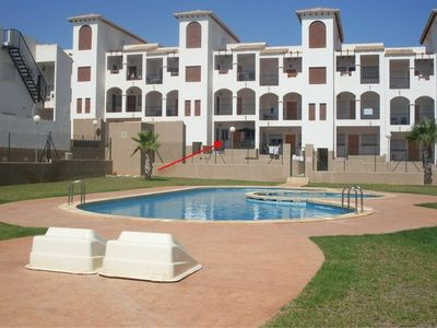 Photo for Self-catering with swimming pool & near to coast & night-life