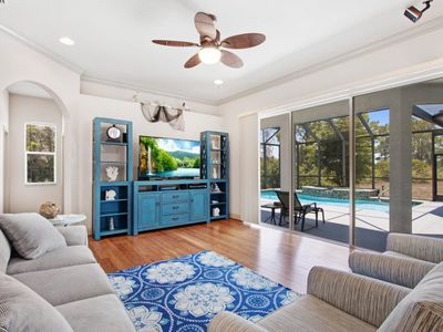 Photo for Blue Seas, great open family home with oversized pool area, bikes in quiet neighborhood
