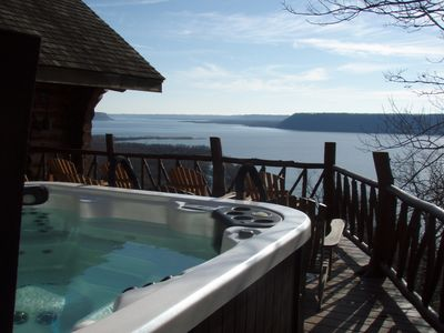 Relax And Enjoy The View In Our Large 6-8 Person Hot Tub, Open All Year Round!