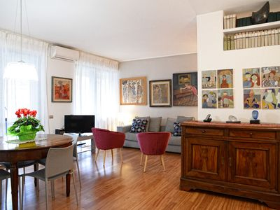 Photo for Elegant and chic apartment, Como city center! FREE PRIVATE PARKING