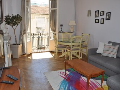 Photo for 3 bright rooms at 50 the sea and the Promenade des Anglais