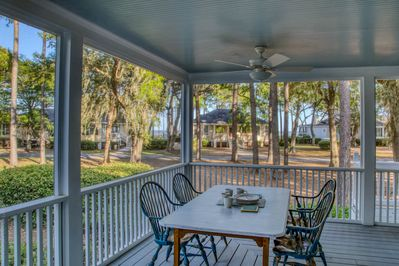 Lovely porch including dining area