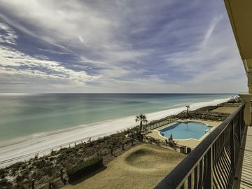 Adagio A305 spectacular sunsets,updated  4 bedroom overlooking gulf and pool!